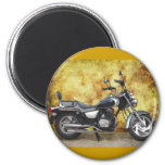 Black Cycle in Grunge Alley Fridge Magnets