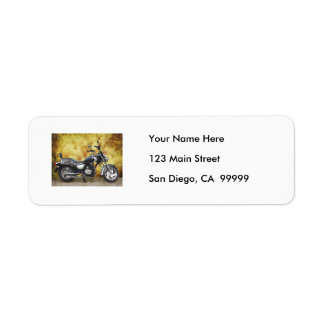 Black Cycle in Grunge Alley Return Address Label