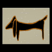 Black Dachshund 5 posters