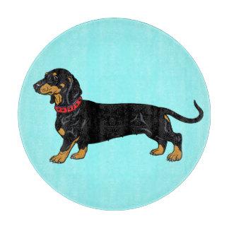 black dachshund cutting board
