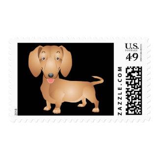 Black Dachshund Puppy Dog Postage Stamp