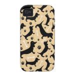 Black dachshund vibe iPhone 4 case