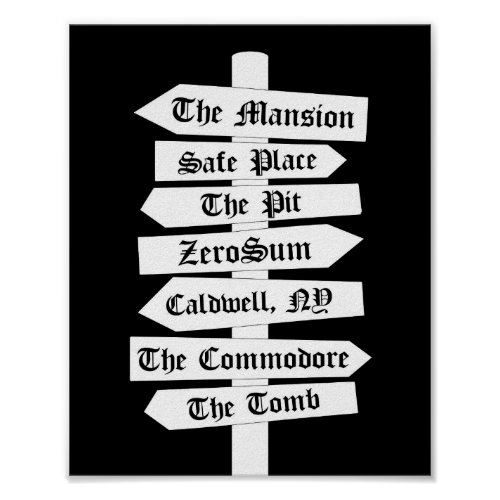 Black Dagger Brotherhood Directional Sign Print