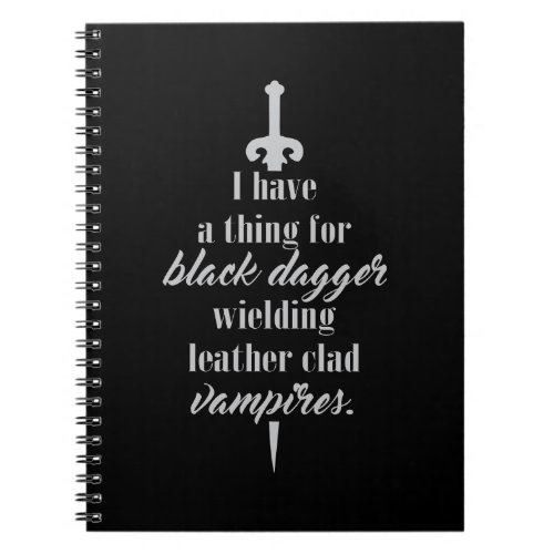 Black Dagger Brotherhood Inspired Notebook