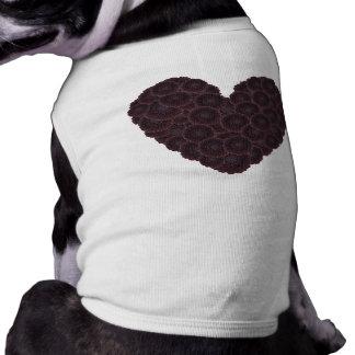 Black Dahlia Heart Dog Clothes