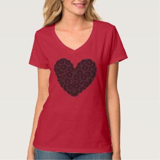 Black Dahlia Heart T-Shirt