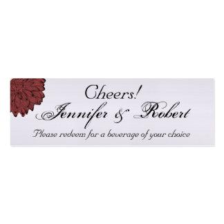 Black Dahlia Posh Wedding Drink Tickets Business Card Templates