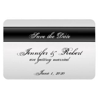 Black Dahlia Posh Wedding Save the Date Magnet