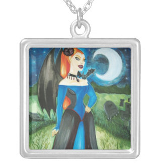 Black Dahlia Vampire Necklace