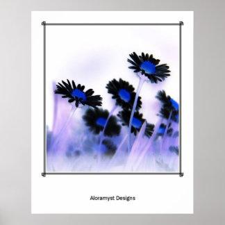 Black Daisies Print
