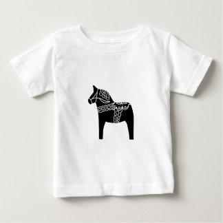 Black Dala Horse Baby T-Shirt