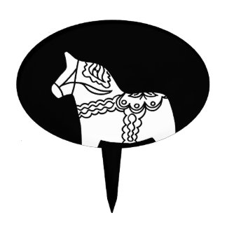 Black Dala Horse Cake Toppers