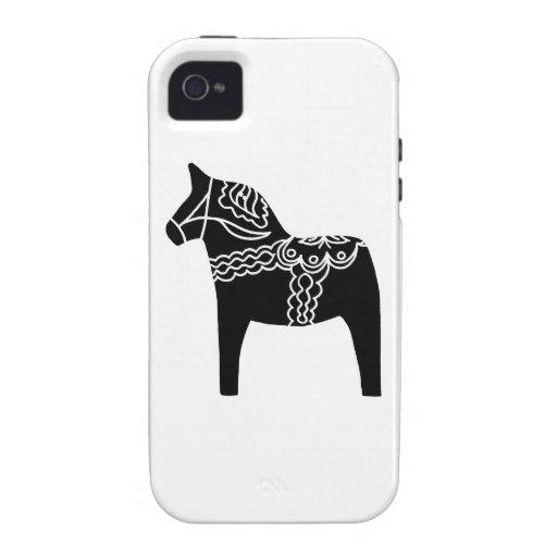 Black Dala Horse Case-Mate iPhone 4 Cover