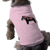Black Dala Horse Dog Shirt