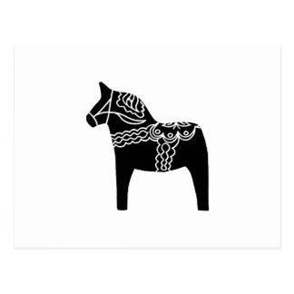Black Dala Horse Postcard