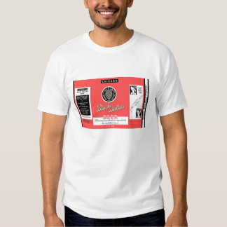Black Dallas Beer Flat Top Instructional Can Label Tee Shirt