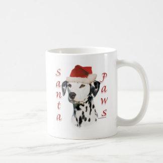 Black Dalmatian Santa Paws Classic White Coffee Mug