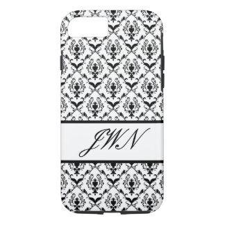 Black Damask #2 @ Stylnic customizable iPhone 7 Case