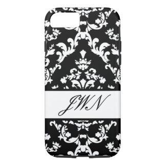 Black Damask #3 @ Stylnic customizable iPhone 7 Case