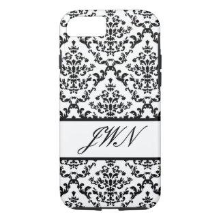 Black Damask #4 @ Stylnic customizable iPhone 7 Case