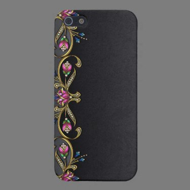 Black Damask and Jewels iPhone 4G Case iPhone 5 Cover