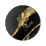 Black damask and mom candy tins