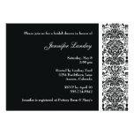Black Damask Bridal Shower Invitation