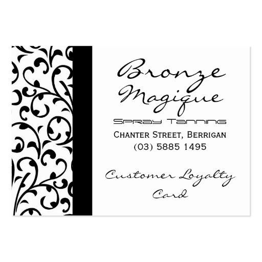 Black Damask Business Customer Loyalty Card Business Card Template