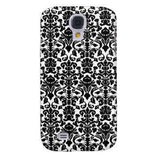 Black damask galaxy s4 cover
