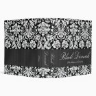 "Black Damask Custom 2"" Binder"
