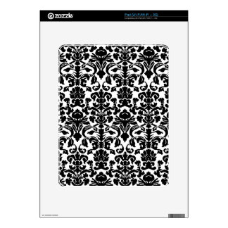 Black damask decal for iPad