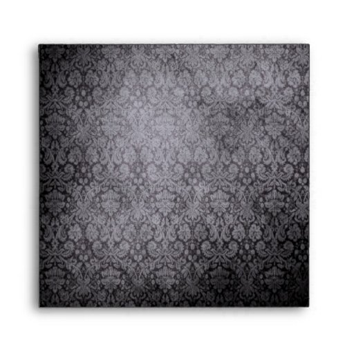 Black Damask Envelope-Square