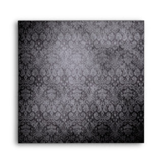 Black Damask Envelope-Square Envelope