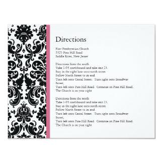 Black Damask Honeysuckle Accent Direction Card
