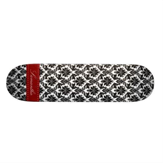 Black Damask Lace Broquade Comp Skateboard