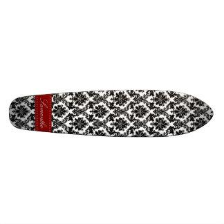 Black Damask Lace Broquade Old School Skateboard