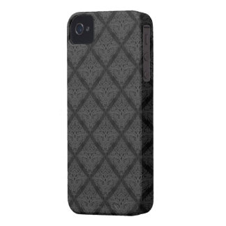 Black damask pattern case iPhone 4 cover