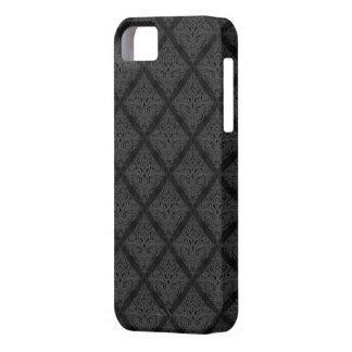 Black damask pattern case iPhone 5 covers
