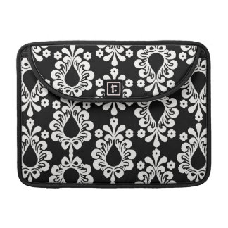 Black Damask Rickshaw Sleeve for MacBook Pro
