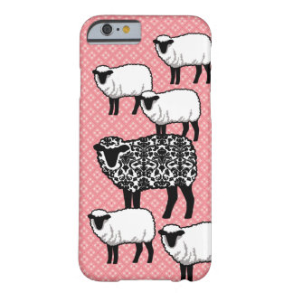 Black Damask Sheep Barely There iPhone 6 Case