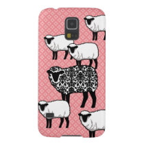 Black Damask Sheep Galaxy S5 Case