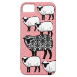 Black Damask Sheep iPhone 5 Cases
