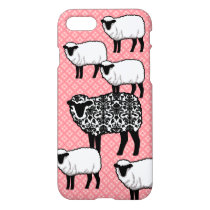 Black Damask Sheep iPhone 7 Case