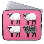 Black Damask Sheep Laptop Computer Sleeves