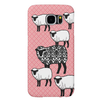Black Damask Sheep Samsung Galaxy S6 Cases
