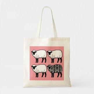 Black Damask Sheep Tote Bag