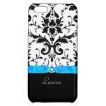 Black Damask Turquoise Jewel iPhone 5C Covers