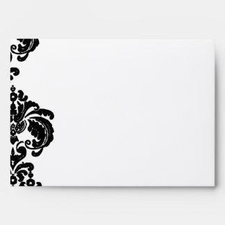 Black Damask Wedding Envelopes