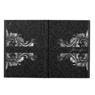 Black Damasks Metallic Silver Floral Lace Powis iPad Air 2 Case