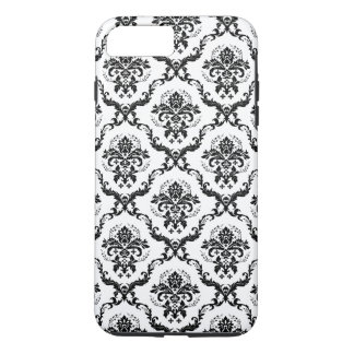 Black Damasks Over White Changeable Background iPhone 8 Plus/7 Plus Case